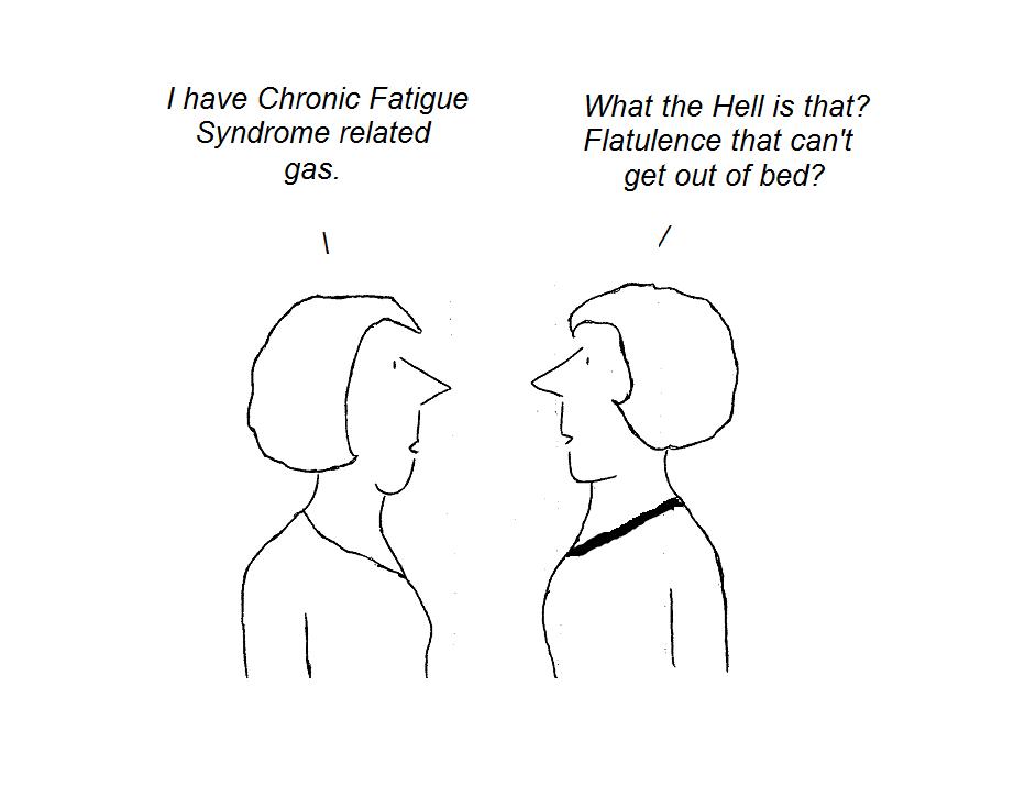 cartoon, irritable bowel syndrome, hhv-6, cfs, chronic fatigue syndrome