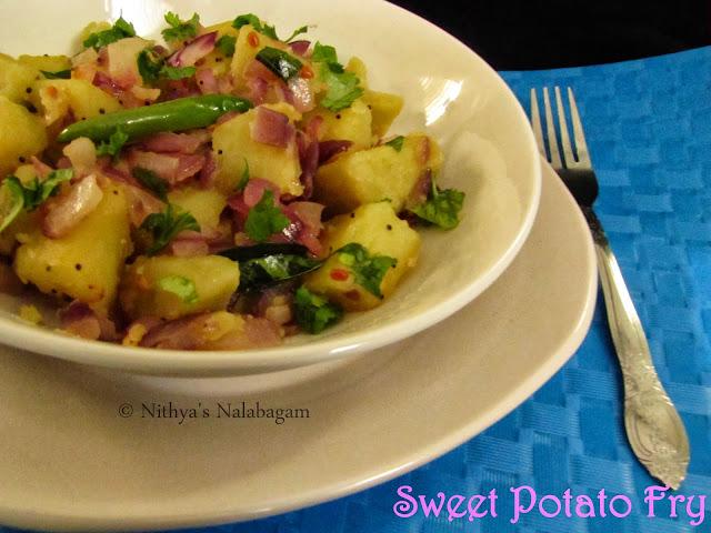 Sakkaravalli Kizhangu Fry | Sweet Potato Fry