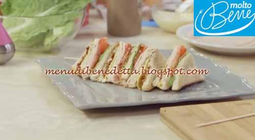 Club sandwich ricetta Parodi per Molto Bene su Real Time