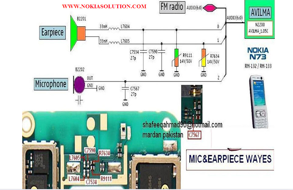 NOKIA PHONE SOLUTION: NOKIA N73 MIC AND EAR REPAIRING SOLUTION