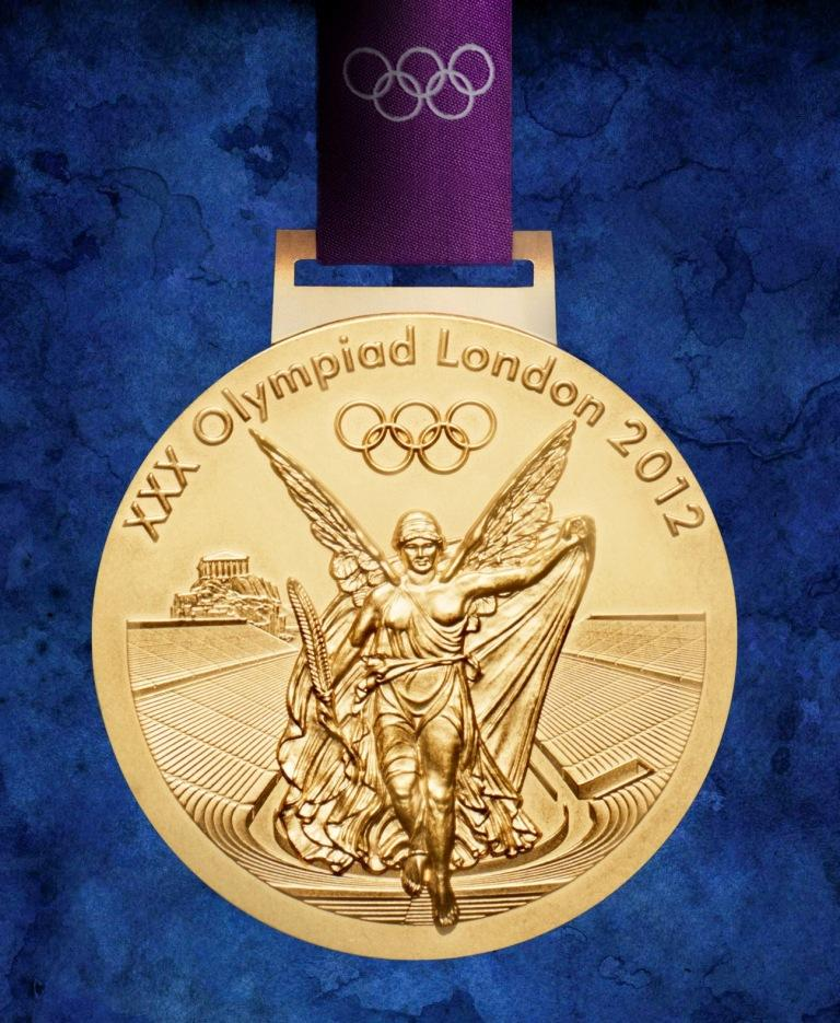 Olympic gold medal makeup
