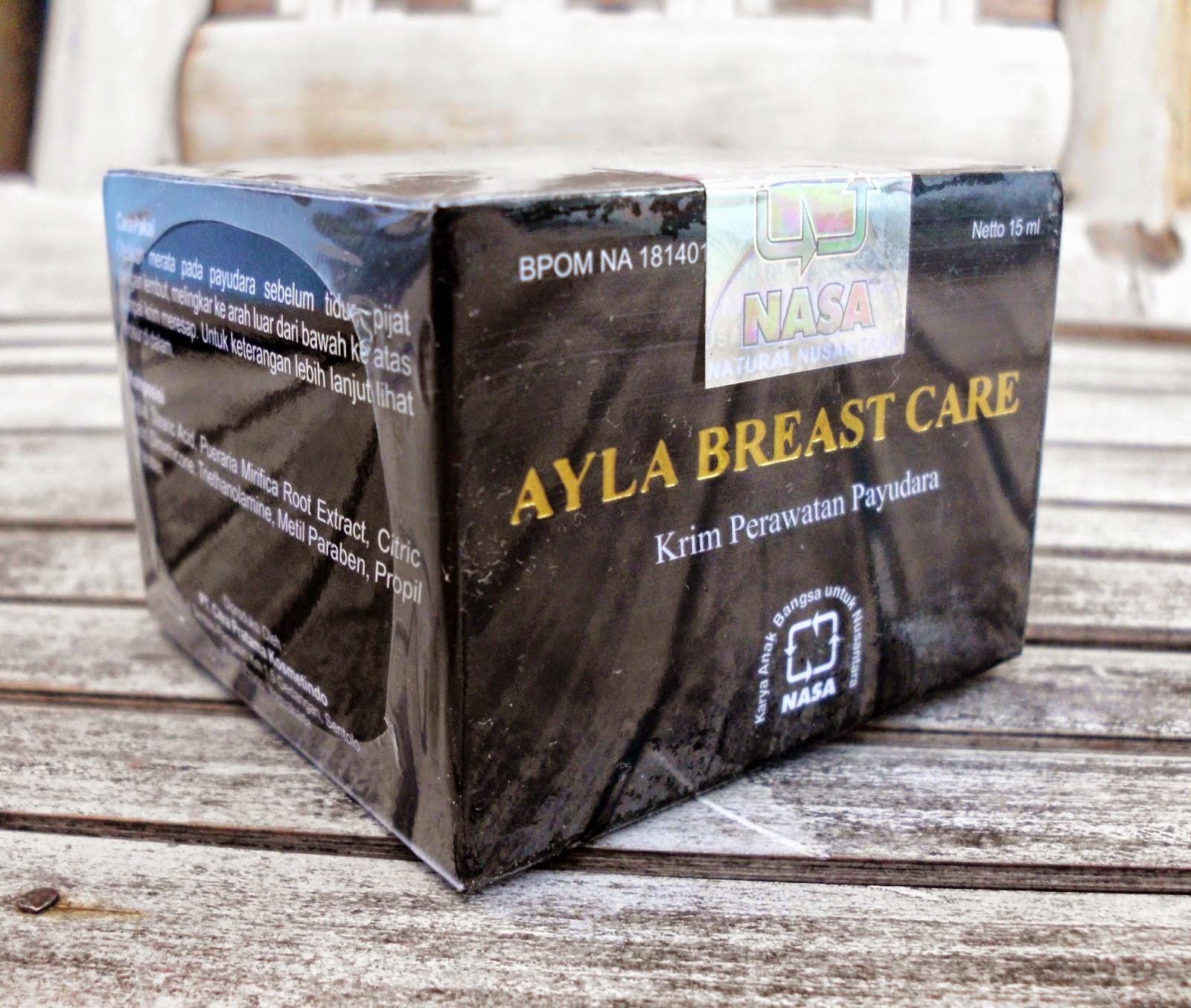 Ayla Breast Care adalah merupakan produk pembesar dan pengencang payudara alami yang telah teruji aman digunakan dan sudah mendapatkan ijin edar resmi BPOM RI dengan nomor BPOM NA18140100462.