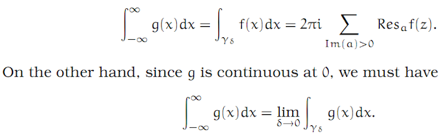 Complex Analysis: #18 Integrating across a Pole equation pic 9