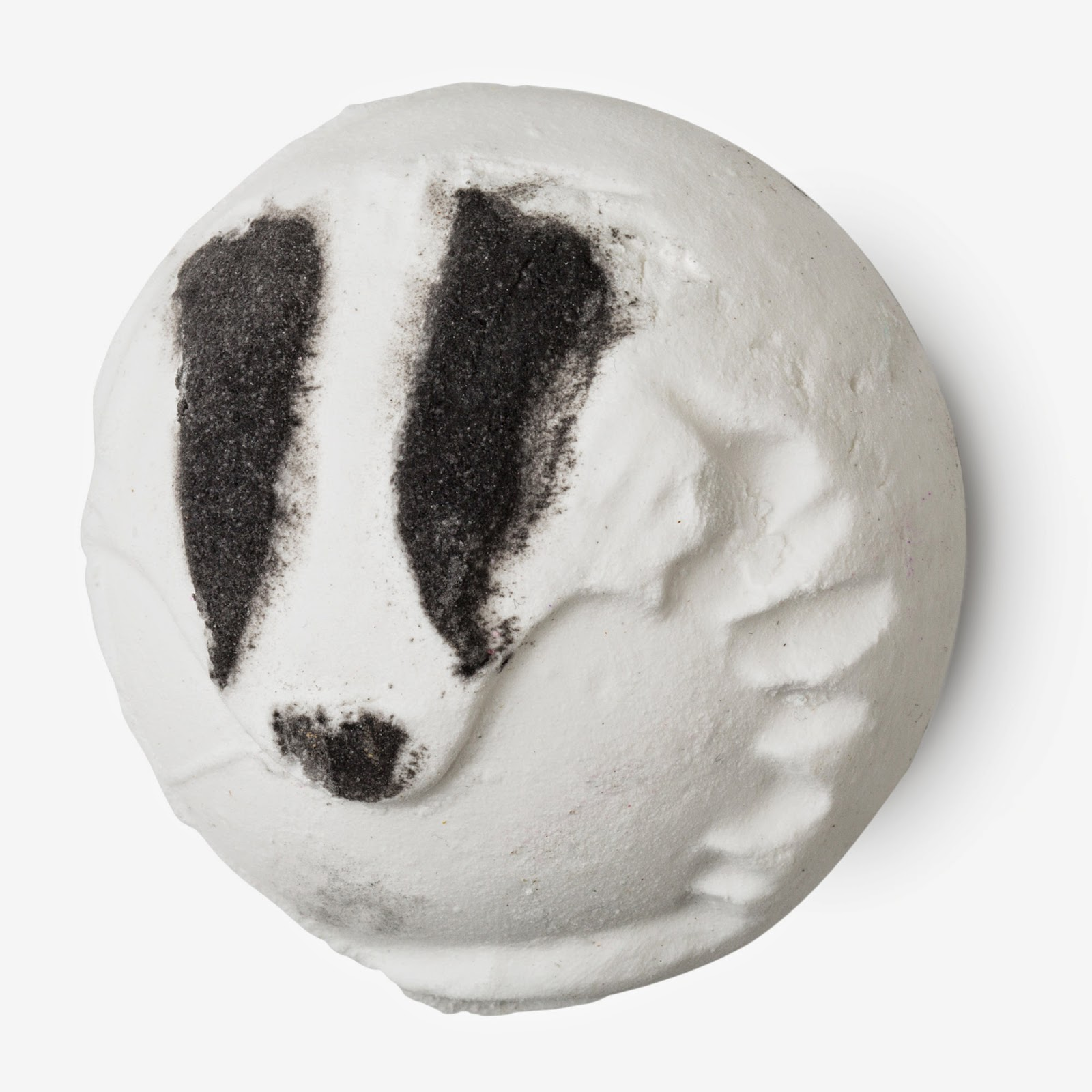 badger inspired bath bomb from lush for charity