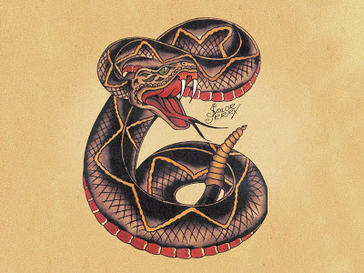 sailor jerry snake flash  ... del tatuatore americano