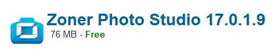 Zoner Photo Studio 17.0.1.9 Free Download