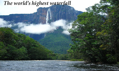 The world's highest Angel waterfall