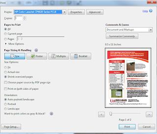 Screenshot of Print Dialog box