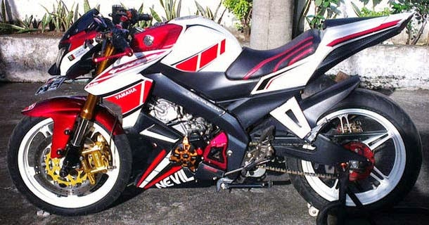Modifikasi New Vixion Lightning Half Fairing