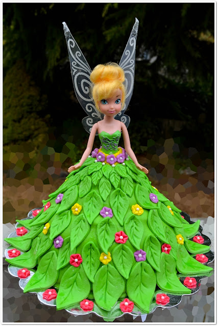 Lea s Cooking: Tinkerbell Doll Cake for a Birthday Party!!!
