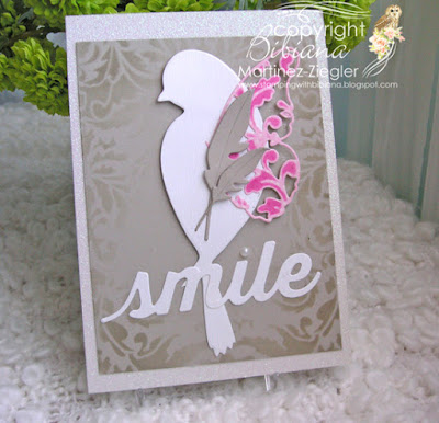 memory box bird card front