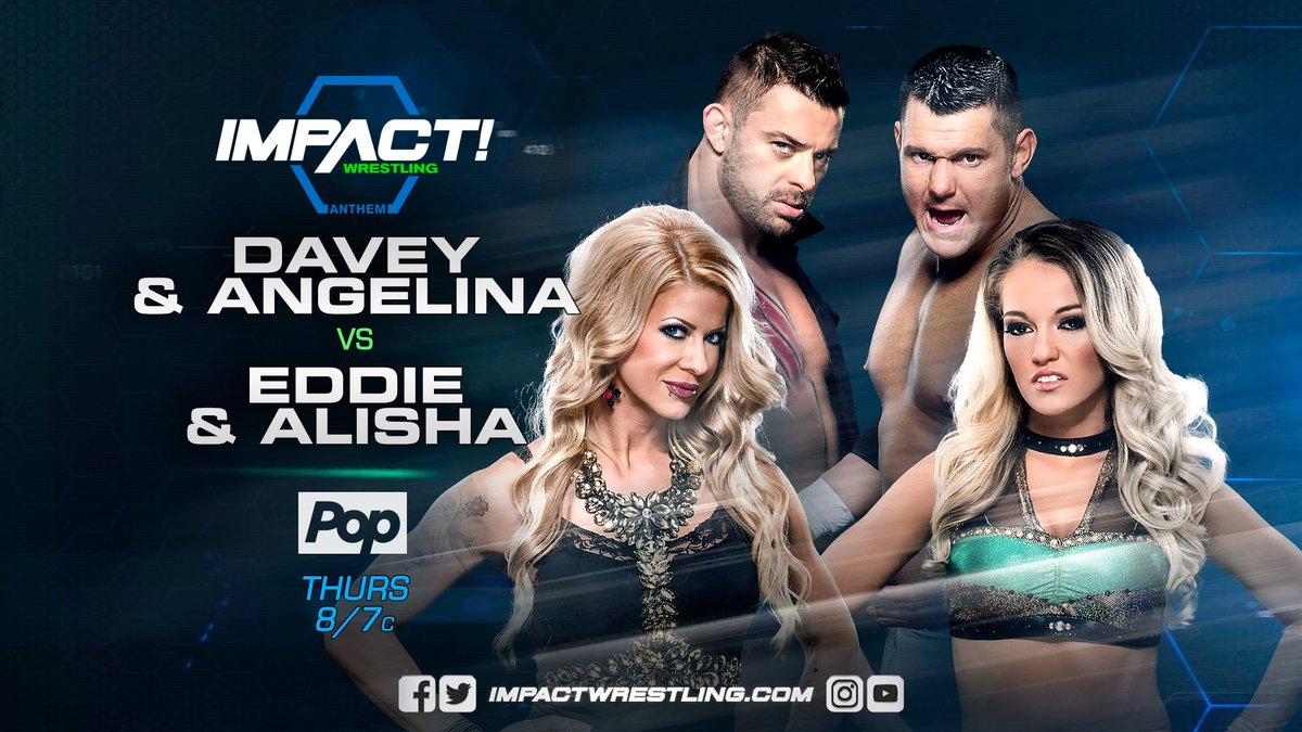Davey & Angelina vs Eddie & Alisha