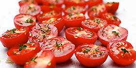 Tomates cherry marinados