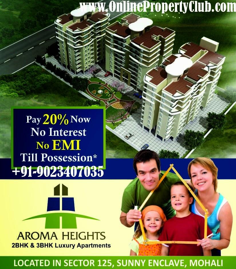Aroma heights 2,3BHK Apartments Mohali Sec-125 Kharar