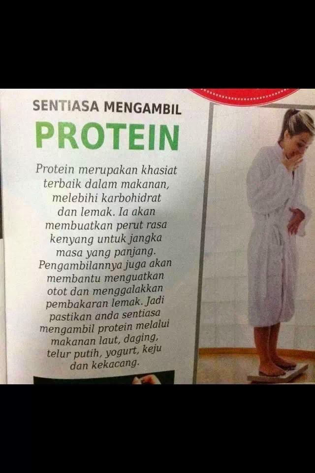 sentiasa mengambil protein