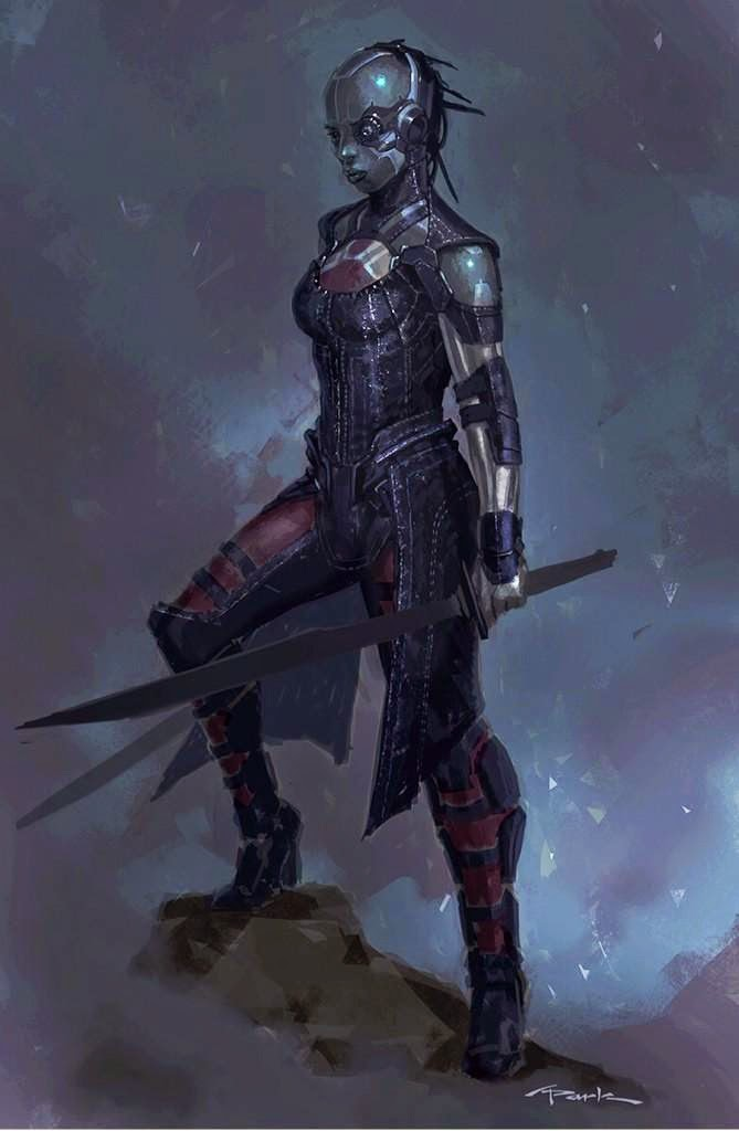 See the purple gamora that almost was in guardians of the galaxy