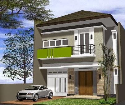 desain rumah minimalis 2 lantai luas tanah 150 m2 model