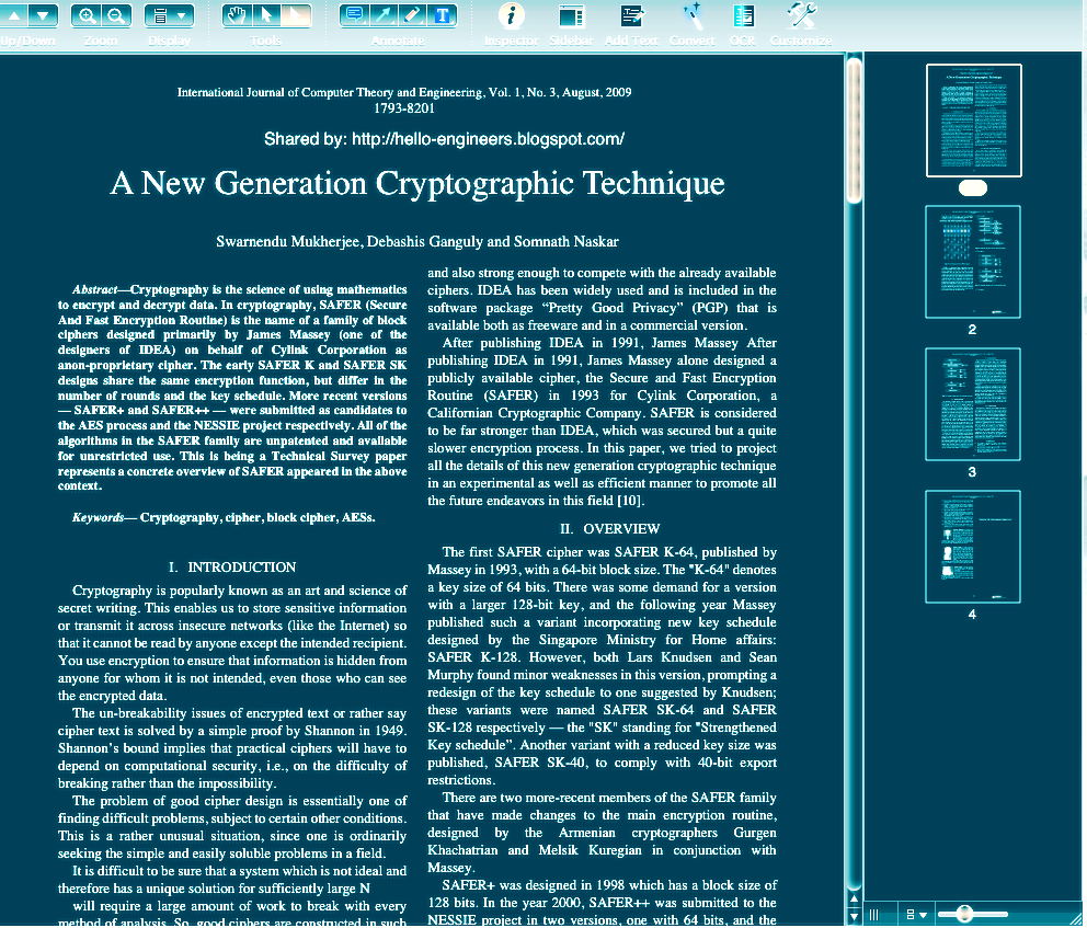 student papers cryptography Students will learn about the history and uses of cryptography and will understand support student interest in cryptography papers at the library of congress.