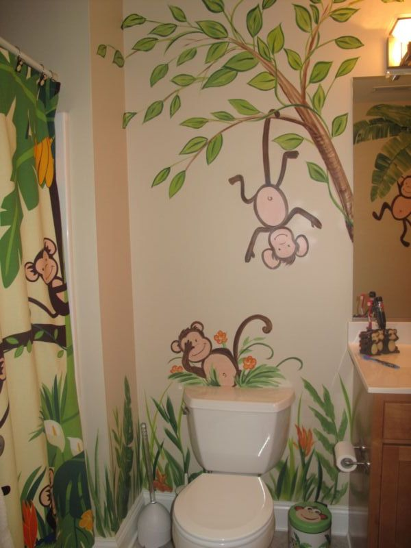 kids monkey bathroom sets images frompo 1. Black Bedroom Furniture Sets. Home Design Ideas