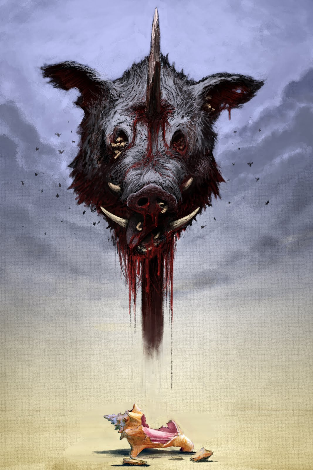 Lord of the flies pig head drawing