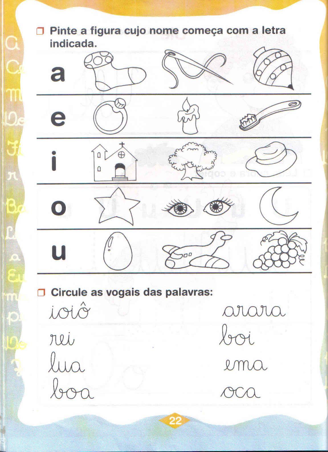 Atividades Vogais Para Educa O Infantil Espa O Educar