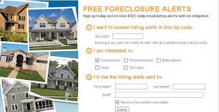 Signup Free Foreclosure Alerts Online