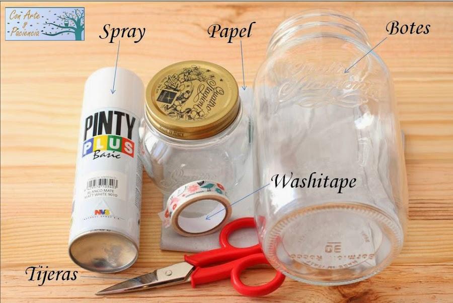 Tunea y recicla los botes de cocina a partir de washi tape
