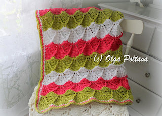 Spring Stripes Afghan, $3.49