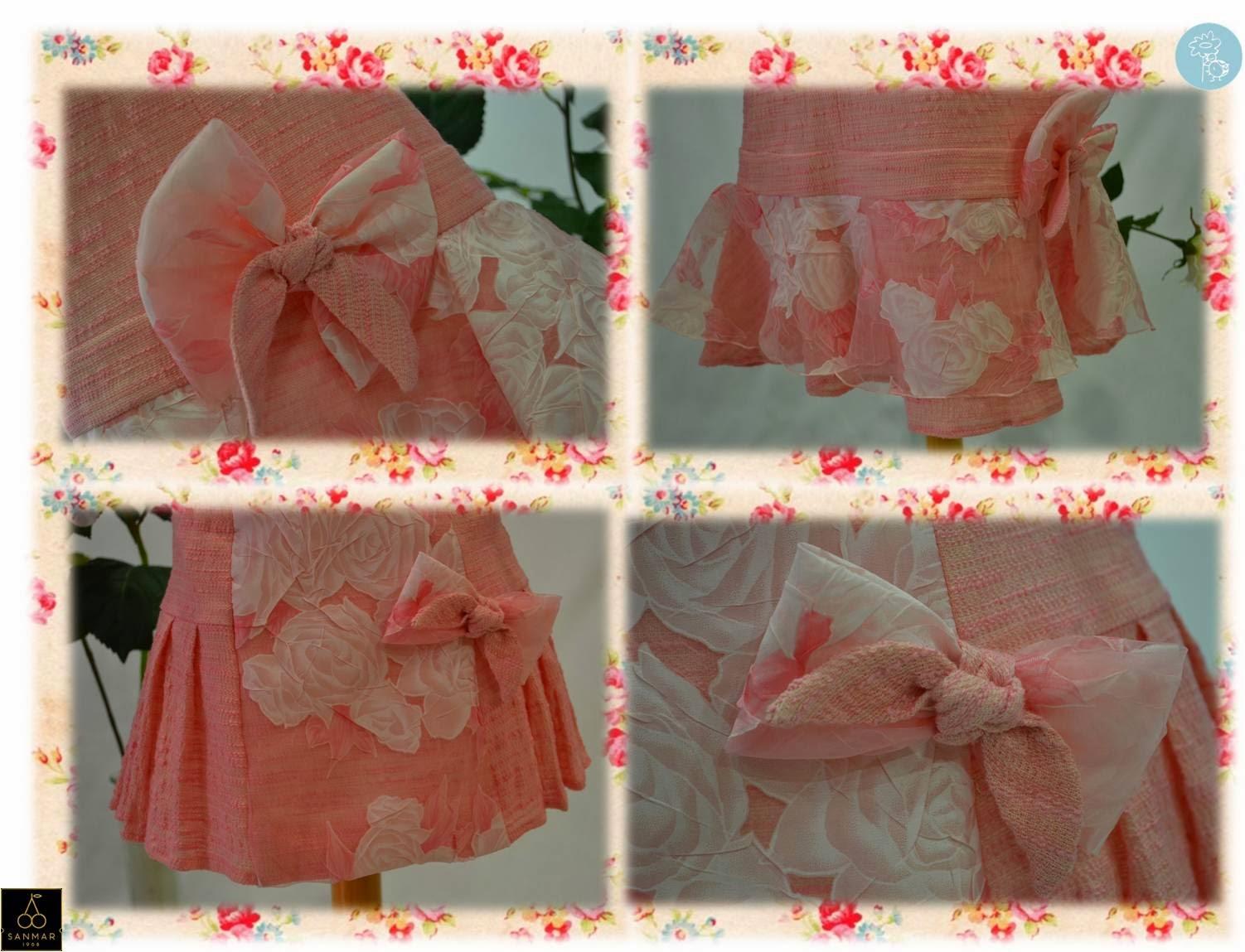 Sanmar -Detalles vestidos colección flores-