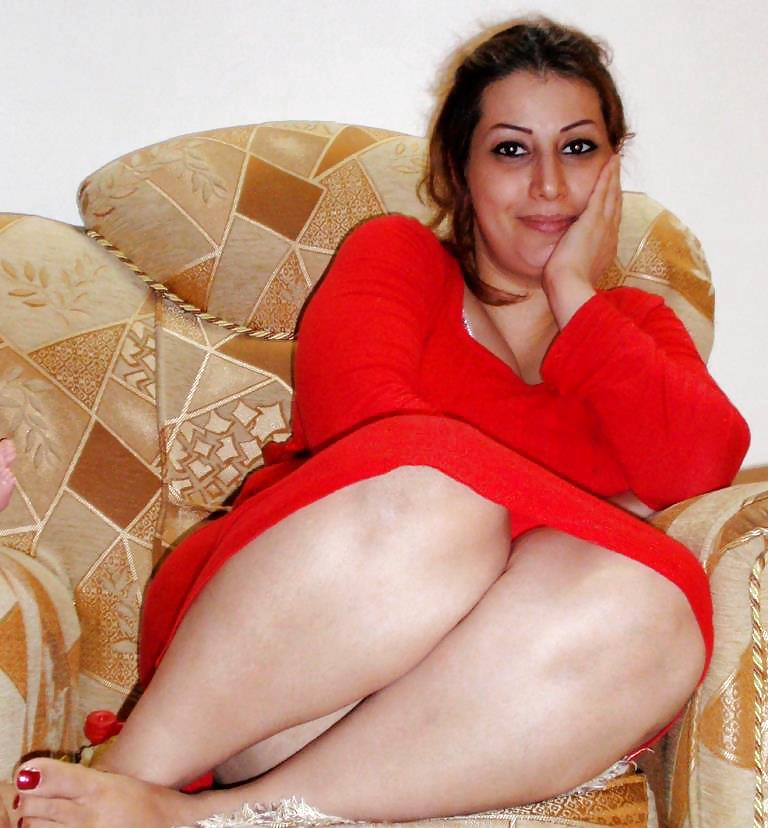 Busty Iranian In Red Dress