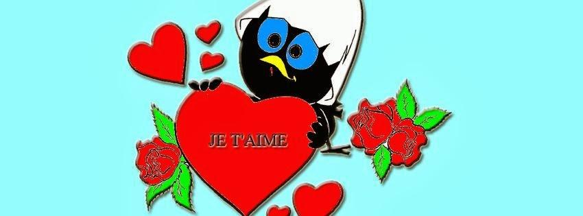 Couverture facebook calimero amoureux
