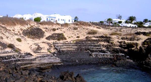 Pueblo nudista Charco del Palo (Lanzarote)
