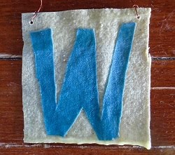 beeswax rag flag: #FlyTheW (Cubs win)
