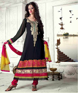 Black Heavy Anarkali Suit