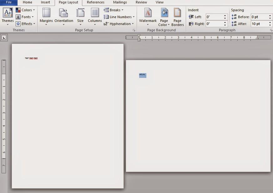 Macam mana nak masukkan halaman potrait dan landscape dalam satu dokumen