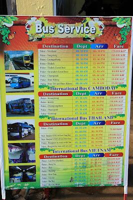 Schedules international bus Pakse