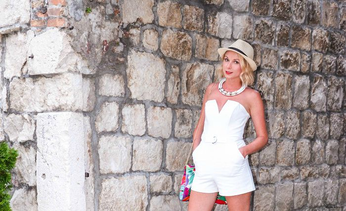 Holiday Outfit: Playing it Cool in a White Playsuit