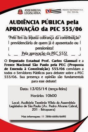 AUDIÊNCIA PÚBLICA DA PEC 555 EM SÃO PAULO