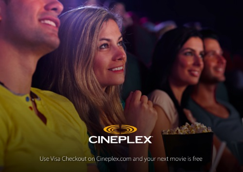 Cineplex Free Tickets with Visa Checkout