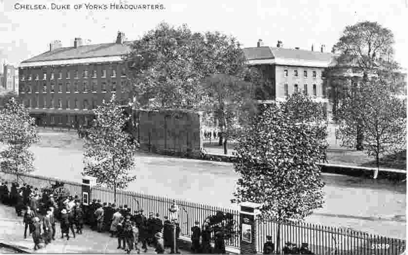 Postcard of Duke of York's Headquarters, Chelsea.