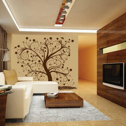 Twc vinilos - Decoracion paredes salon ...
