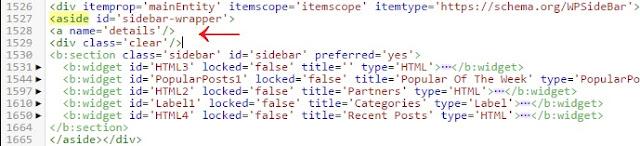 Contoh Penempatan Kode