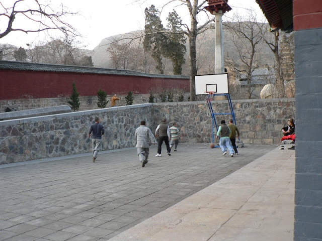 basketball game at the Shaolin Monastery in Henan