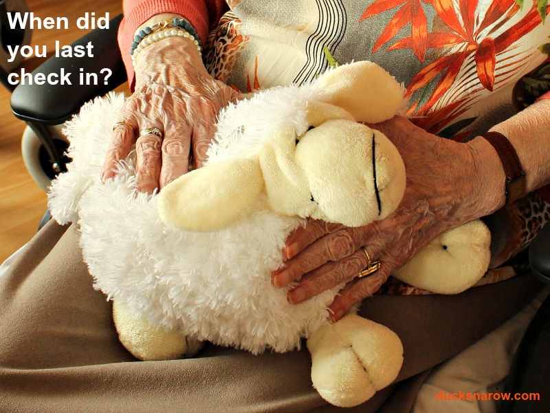 Care for the elderly #agingparents #geriatriccare Ducks 'n a Row