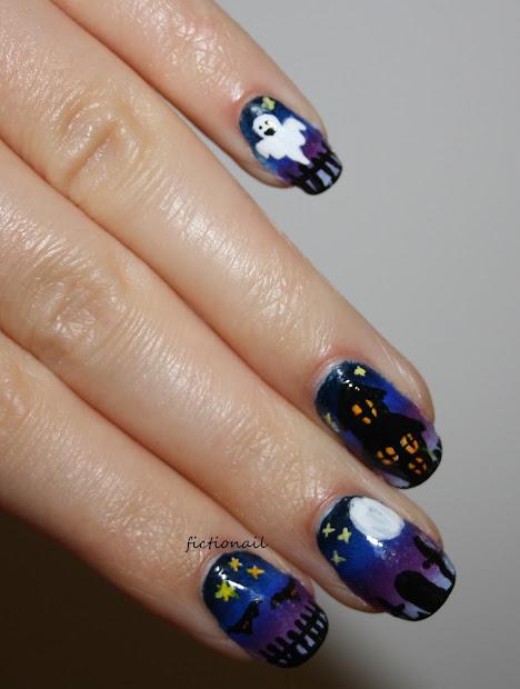 spooky graveyard halloween nails