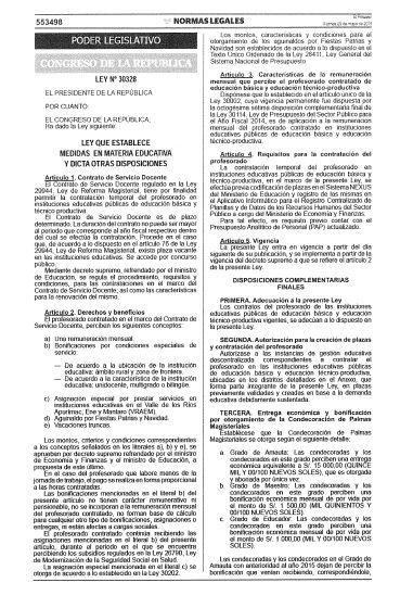 Autorizan pagos de bonificaciones a docentes contratados for Resolucion docentes 2016