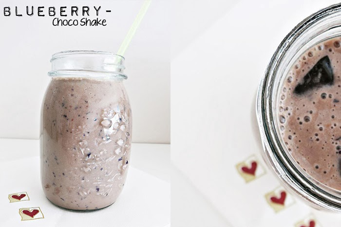 Blueberry-Choco Shake