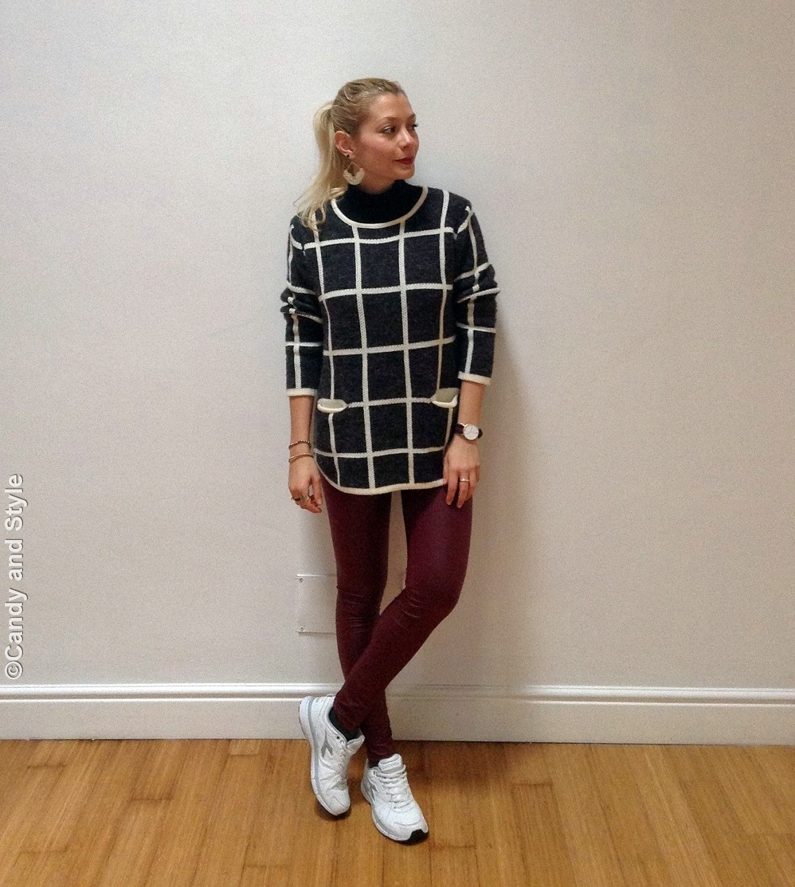 Checks - Leggings - Sneakers