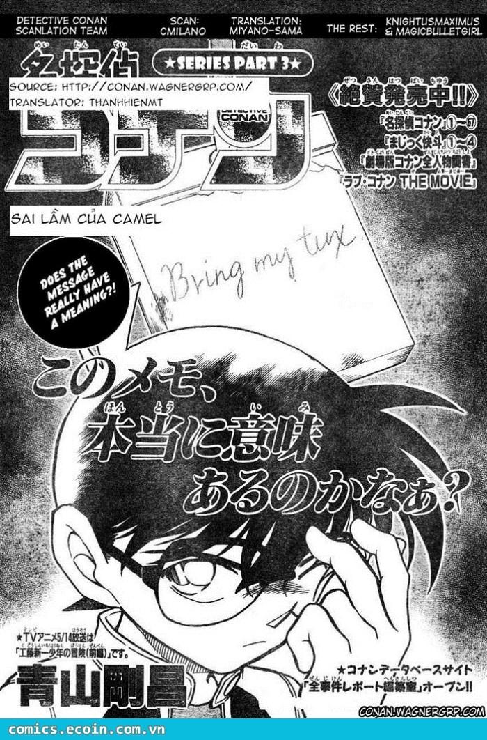 Detective Conan - Thám Tử Lừng Danh Conan chap 607 page 1 - IZTruyenTranh.com