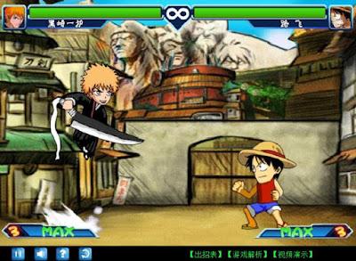 Naruto vs Bleach Games Screenshot